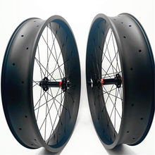 26er fatbike carbon wheels 100x25mm tubeless carbon fat bike wheels 26er fat tire wheels hookles 150/197mm NOVATEC hub(China)