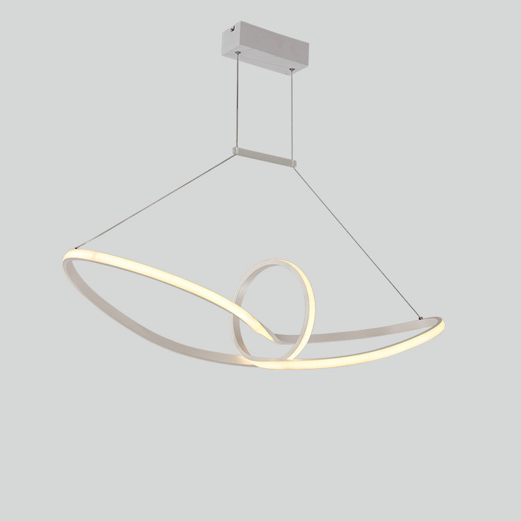 Simple Modern LED Pendant Light Creative Yacht Acrylic Aluminum Hanging Lighting Fixture For Dining Room Kitchen Island Office silver aluminum ball led pendant light for living room creative design home decoration hanging lamp dining room lighting fixture