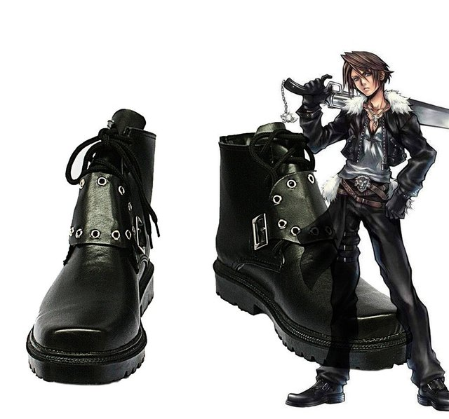 Final Fantasy VIII FF8 Squall Leonhart Cosplay Shoes Boots Custom Made