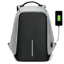 2017 diebstahl USB lade Männer 15 156 zoll Laptop Rucksack Frauen Rucksack Mochila Schule Rucksack Tasche Casual Laptop tasche