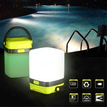 Led Silicone Camping Lamp Led Tent Light Colorful Atmosphere Night Light Lamps 200lm Highlight Aa Battery (not Include)