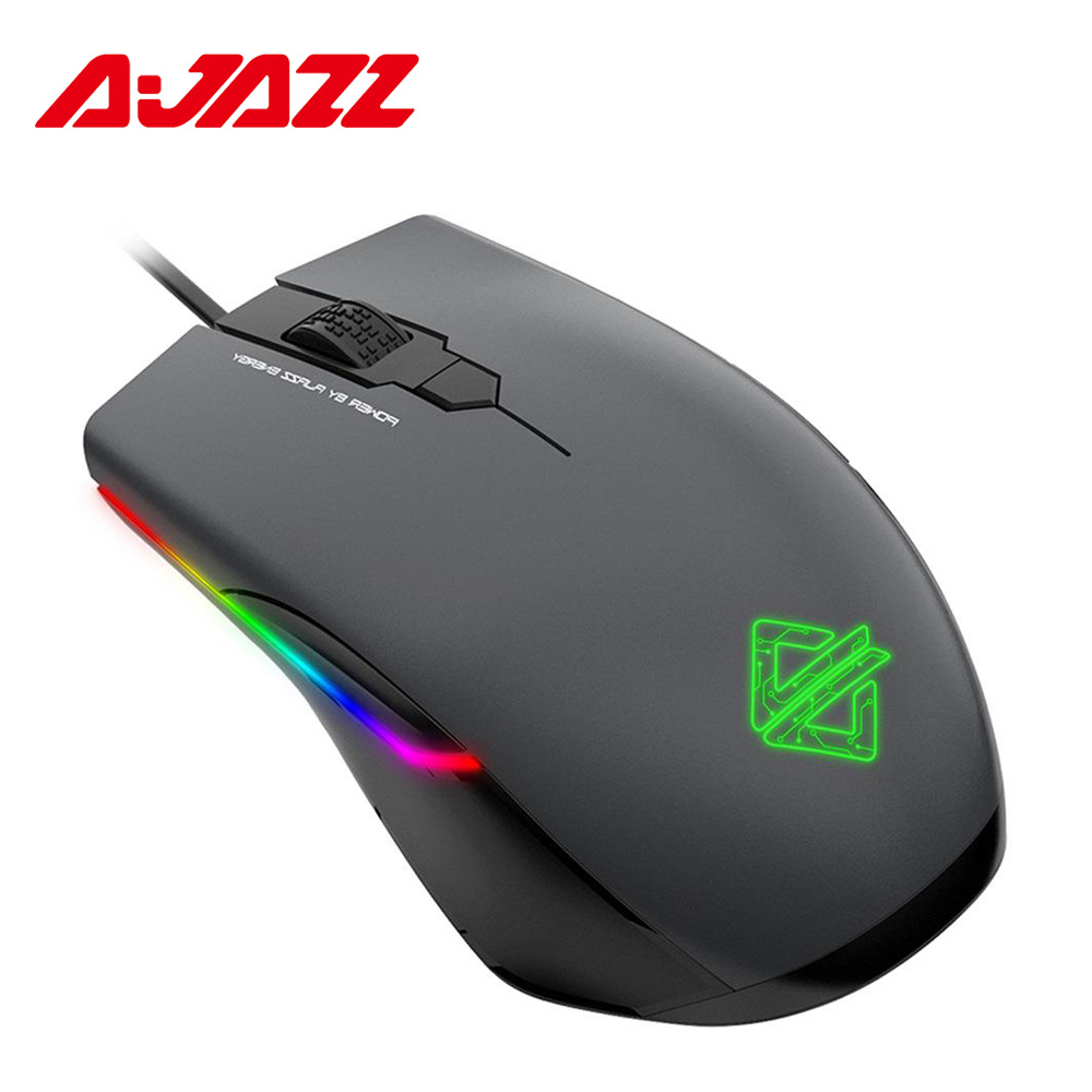 Ajazz AJ903 Wired Gaming Mouse 16000 DPI RGB Lighting Mice 32bit 50G Acceleration Customized Macro Programming