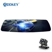 Автомобильный видеорегистратор ADDKEY, видеорегистратор Full HD 1080 P, регистратор, зеркало заднего вида, двойной объектив, супер ночное видение, авто, две камеры