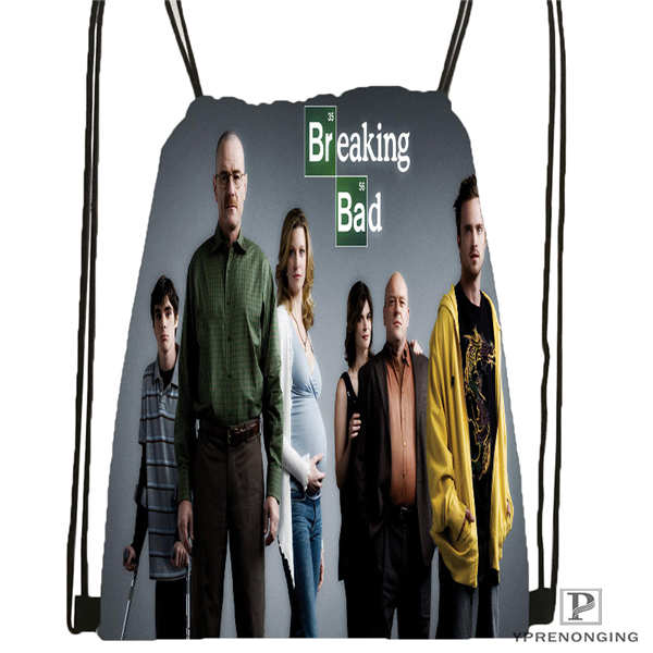Custom _breaking-bad-aaron@1Drawstring Backpack Bag Cute Daypack Kids Satchel (Black Back) 31x40cm#2018611-26