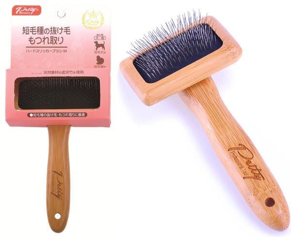 Livraison gratuite en bois poignée air sac soft slicker chien brosse professionnel toilettage gant chat peigne kedi malzemelericepillo perro