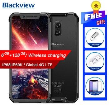 Перейти на Алиэкспресс и купить Смартфон Blackview BV9600 Pro IP68, водонепроницаемый мобильный телефон, Helio P60, 6 ГБ + 128 Гб, экран 6,21 дюйма 19:9 FHD AMOLED, 5580 мАч, Android 8,1, NFC