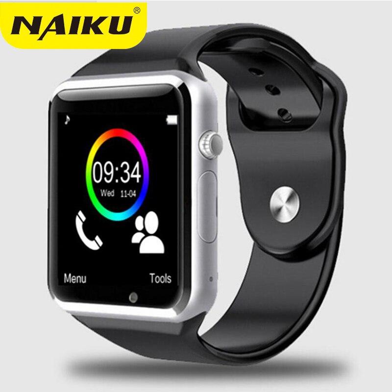NAIKU Fábrica A1 relógio de Pulso Bluetooth Relógio Inteligente Pedômetro Esporte com Câmera SIM Smartwatch Para Smartphones Android Rússia