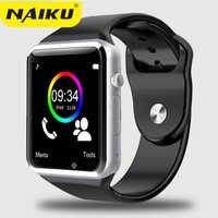 NAIKU Factory A1 zegarek na rękę Bluetooth inteligentny zegarek sportowy krokomierz z SIM smartwatch z aparatem na smartfon z androidem rosja