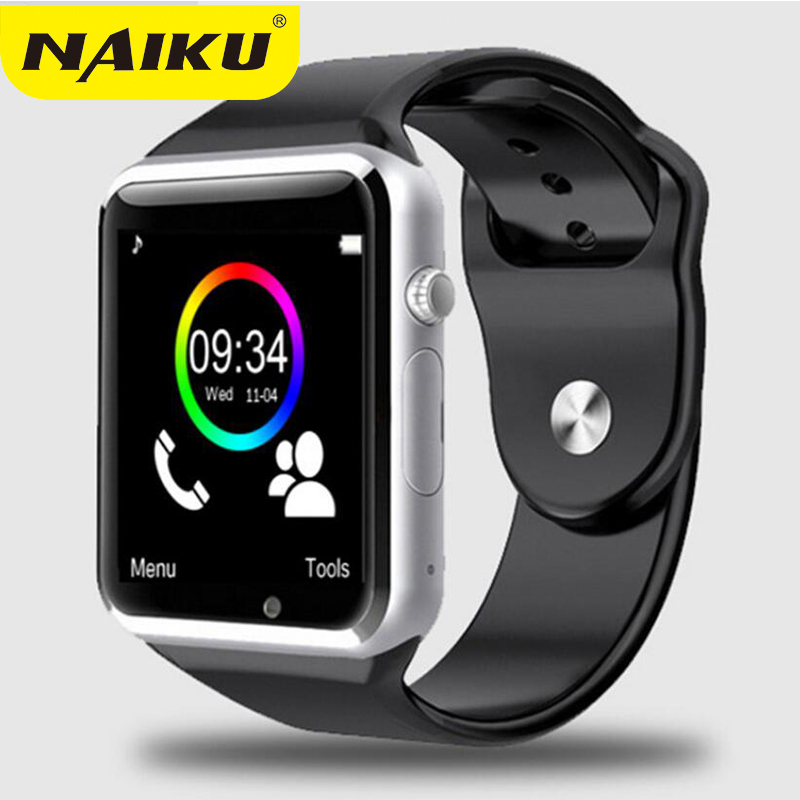 NAIKU fábrica A1 reloj inteligente reloj Bluetooth deporte podómetro con cámara SIM Smartwatch para Android Smartphone Rusia
