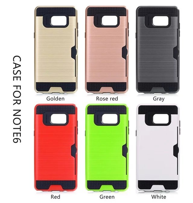 Case for samsung Note3 Note4 Note5 Carbon Fiber Brushed Wire Drawing Silicone for samsung Note7 Note8 Mobile Phone Shell