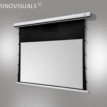T1MWGW, 16:10, Натяжной Электрический моторизованный проекционный экран, с матовым серым материалом для домашнего кинотеатра, 8K 4K Ultra HD готовый потолок