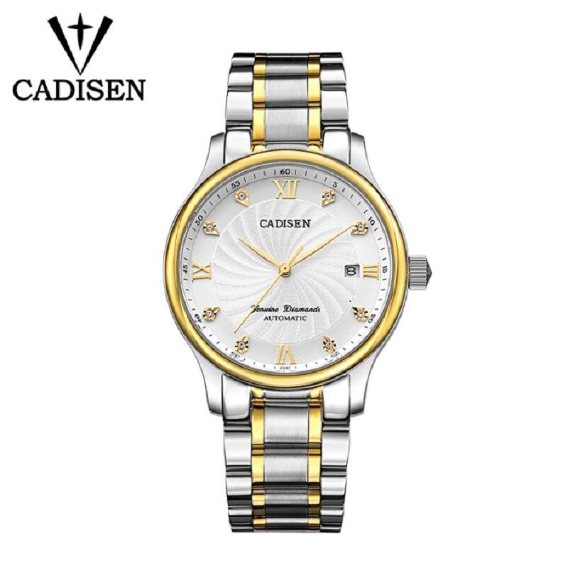 CADISEN Men Watch 2018 Brand Mechanical Automatic Role Date Fashione luxury Submariner Clock Male Reloj Hombre Relogio Masculino цена и фото