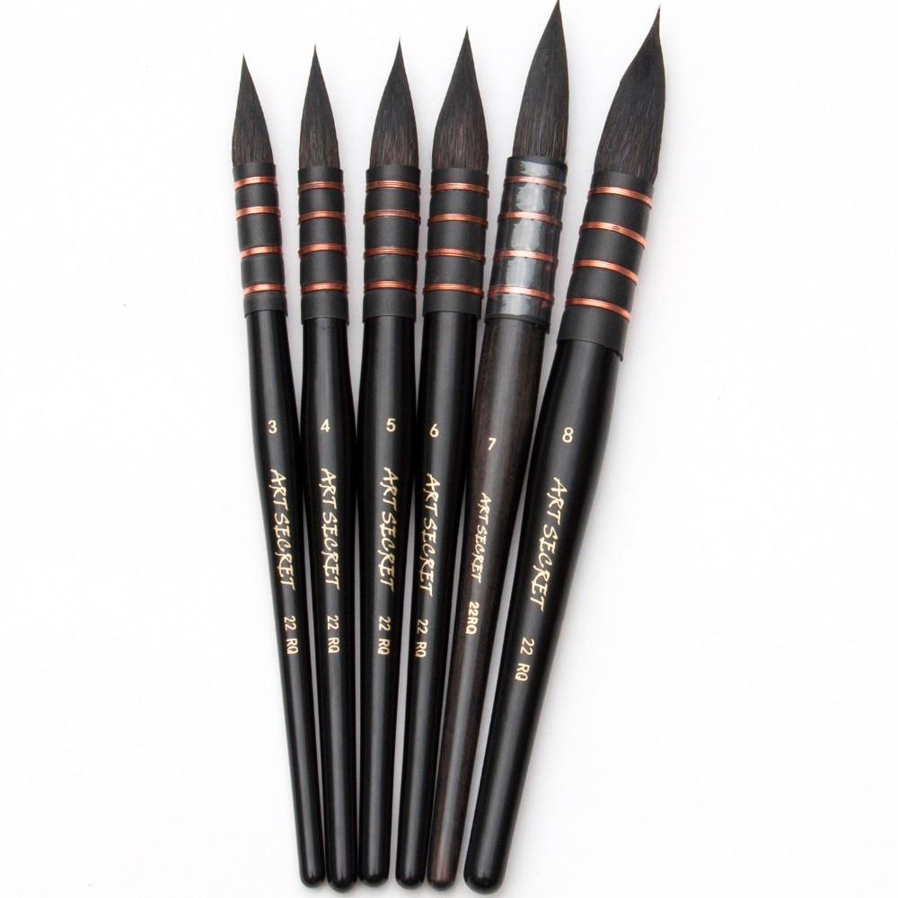 22rq Paint Brushes Art Supplies Squirrel Hair Watercolor