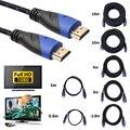 Nueva trenzado hdmi cable hdmi a hdmi macho a macho v1.4 av hd 3d para xbox hdtv 0.5 m 1 m 2 m 3 m 5 m 10 m 15 m metros 1080 p hdmi cable