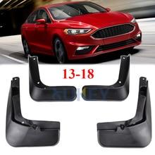 Брызговики для Ford Fusion Mondeo 2013, 2014, 2015, 2016, 2017, 2018, набор брызговиков, брызговики, переднее и заднее крыло