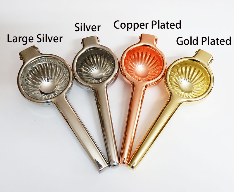 Manual Stainless Steel Lemon Squeezer Citrus Press Juicer Lime squeezer Kitchen Bar Tool - Copper/Gold/Silver color(China)