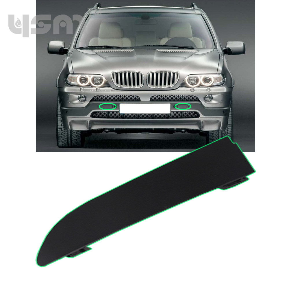 New Primed Front Bumper Tow Eye Hook Cover Rightt Side For BMW X5 E53 2000-2003 51118250414 51 11 8 250 414