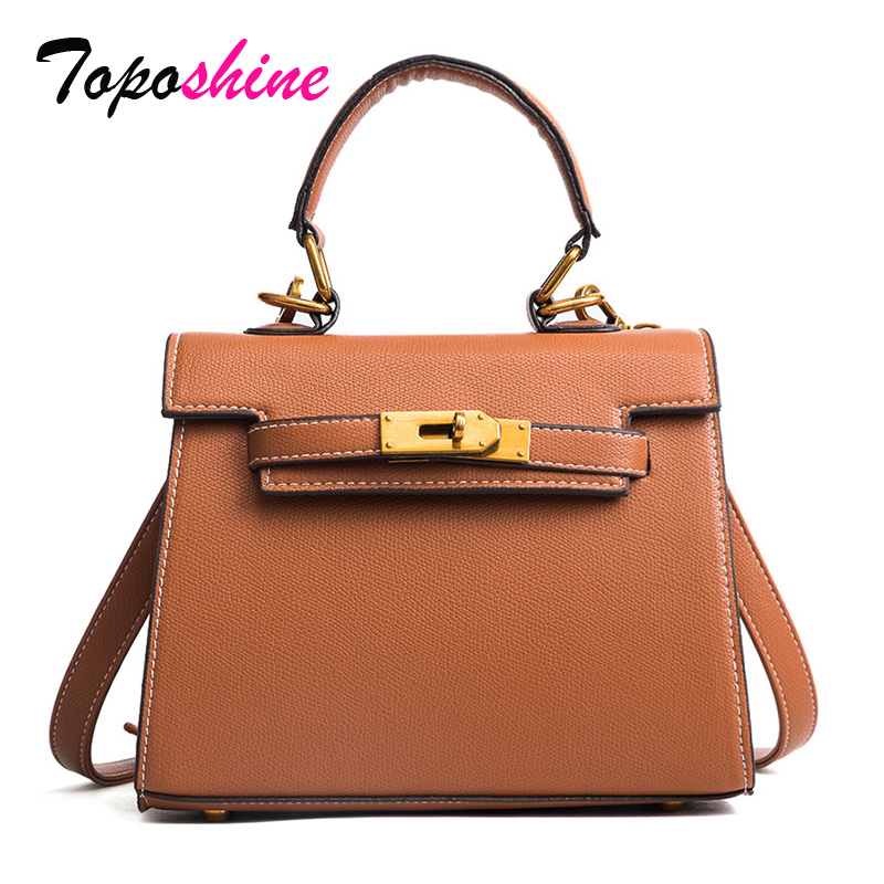Toposhine Women Messenger Bag New Korean Spring Simple Female Bag Casual Small Square Bag Fashion Wild Tide Women Shoulder bag 2018 new female korean version of the bag with a small square package side buckle shoulder messenger bag packet tide