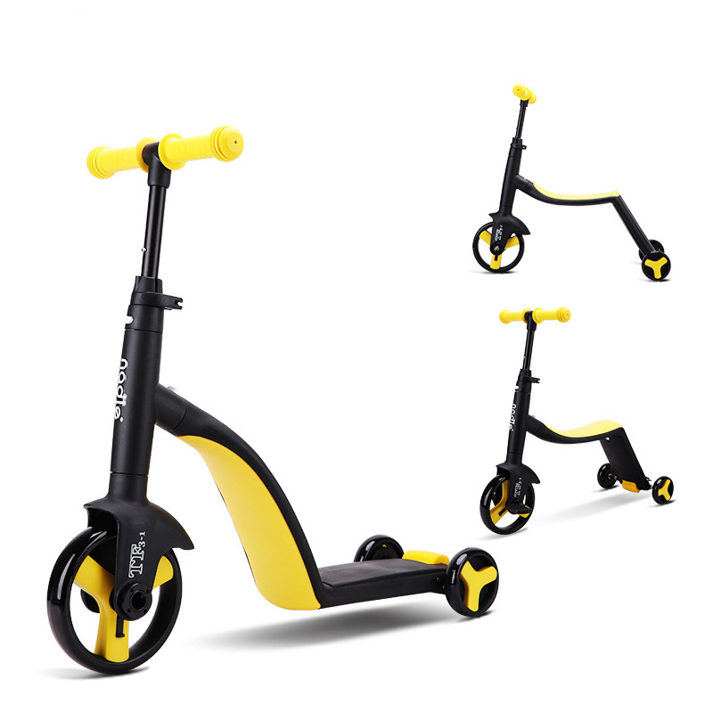 Nadle Children s scooter tricycle toy for car folding for traveling suitable for children over