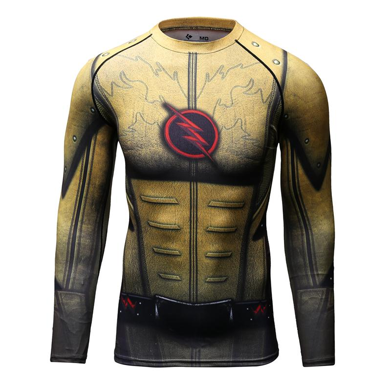 Compressie Shirt-3D Gedrukte T-shirts Heren Lange Mouw Superman - Herenkleding - Foto 2