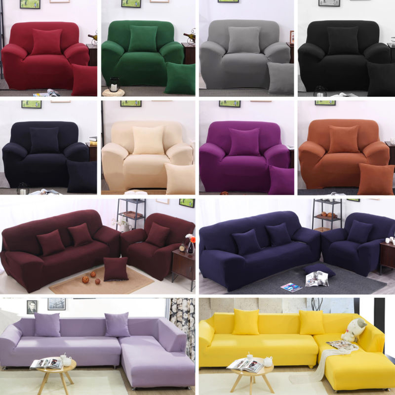 1 2 3 4 seater l shape stretch chair loveseat sofa couch protect cover slipcover in sofa cover. Black Bedroom Furniture Sets. Home Design Ideas
