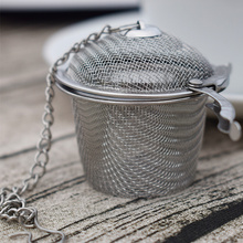 Medium OEM SYSTEMS NEW ESSENTIAL Stainless Steel Infuser Strainer Mesh Tea filtro Spoon di bloccaggio Spice Ball Herbal Home Kitchen Accessorie sz0202