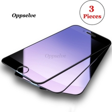 3 Pieces Tempered Glass For iPhone 8 7 6 6s Plus Anti-blue/High Clear Screen Protector Toughened Film iPhon 3pcs set