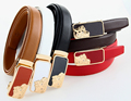 Fancy Design Genuine Leather Belt For Woman Saffiano Leather Belt Hello Kitty Auto Buckle Red White Brown Black Coffee Straps