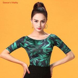 Image 2 - Ballroom Dance Tops Sexy Gauze Long Sleeve Dance Clothes Women Latin Salsa Rumba Chacha Dance Performance Practice Costumes