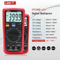 UNI T Multimeter Digital multimeter tester AC DC Voltmeter Ammeter Ohm capacitance HFE Diode/transistor tester LCD dual display