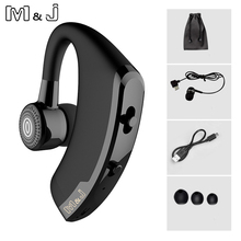 M&J V9 Handsfree Business Wireless Bluetooth Headset With Mic Voice Control Headphone For Drive Connect With 2 Phone daono v9 handsfree business bluetooth headphone with mic voice control wireless bluetooth headset for drive noise cancelling