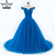 Elegant Blue Butterfly Ball Gown Mother Baby Wedding Dresses Photography Bridal Dress 2017 Rode De Marraige Serene Hill