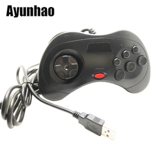 1pcs USB Game Controller 6 Buttons For SEGA Genesis/MD2 Y1301 Gaming Joystick Holder for PC MAC Mega Drive Gamepad все цены