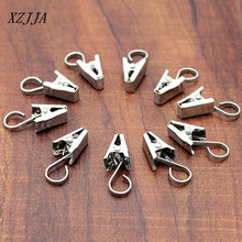 25pcs stainless steel curtain hook clips window shower curtain rings clamps drapery clips curtain kitchen bathroom accessories