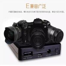 LP-E6N LP-E6 8000mAh Camera External Power Supply for Canon EOS5D Mark II III 7D 60D 6D 5D4 80D Smartphone External Mobile Powe