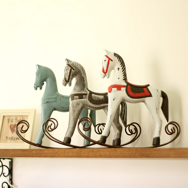 hot new year gift horse mascot trojan furnishing articles rocking home decor chritmas