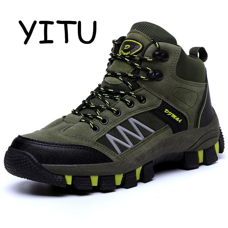 YITU chaussures de randonnée en plein air pour hommes anti-dérapant respirant imperméable Trekking bottes chasse Excursion escalade chaussures de montagne