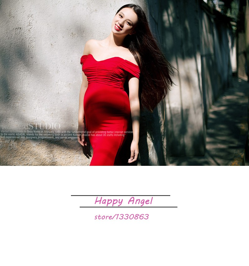 New-Maternity-pregnant-women-Photography-Props-Red-Sexy-Elegant-Romantic-Dress-Noble-Photo-Shoot-costume-personal (2)