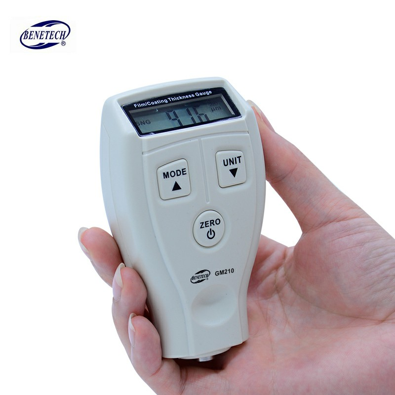Digital BENETECH GM210 0-1800um Mini Paint film iron base thickness gauge Galvanized thickness measurement gm210 0 1800um film coating thickness gauge meter iron base thickness gauge galvanized automotive paint tester
