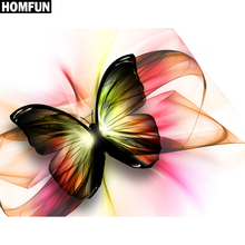 """HOMFUN Full Square/Round Drill 5D DIY Diamond Painting """" Butterfly """" 3D Embroidery Cross Stitch 5D Home Decor XY"""