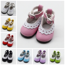 PU Leather Shoes for BJD Doll  5cm Fashion Mini Toy Lace Canvas Shoes 1/6 Doll for Russian Doll Accessories Free Shipping new assorted colors 5pair lot canvas shoes for bjd doll fashion mini toy shoes 1 6 bjd shoes for doll accessories