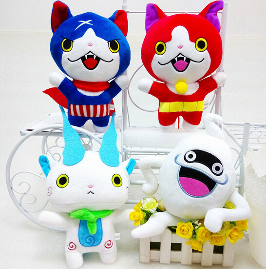 New Yo-Kai 2016 Kawaii Yokai Watch Doll Figure 20cm Komasan and Whisper Youkai Plush Toys Stuffed Dolls image