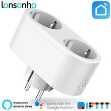Lonsonho 2 In 1 Smart Plug Wifi Smart Socket 16A EU KR Plug Outlet Power Monitor Energy Saver Works Google Home Mini Alexa IFTTT