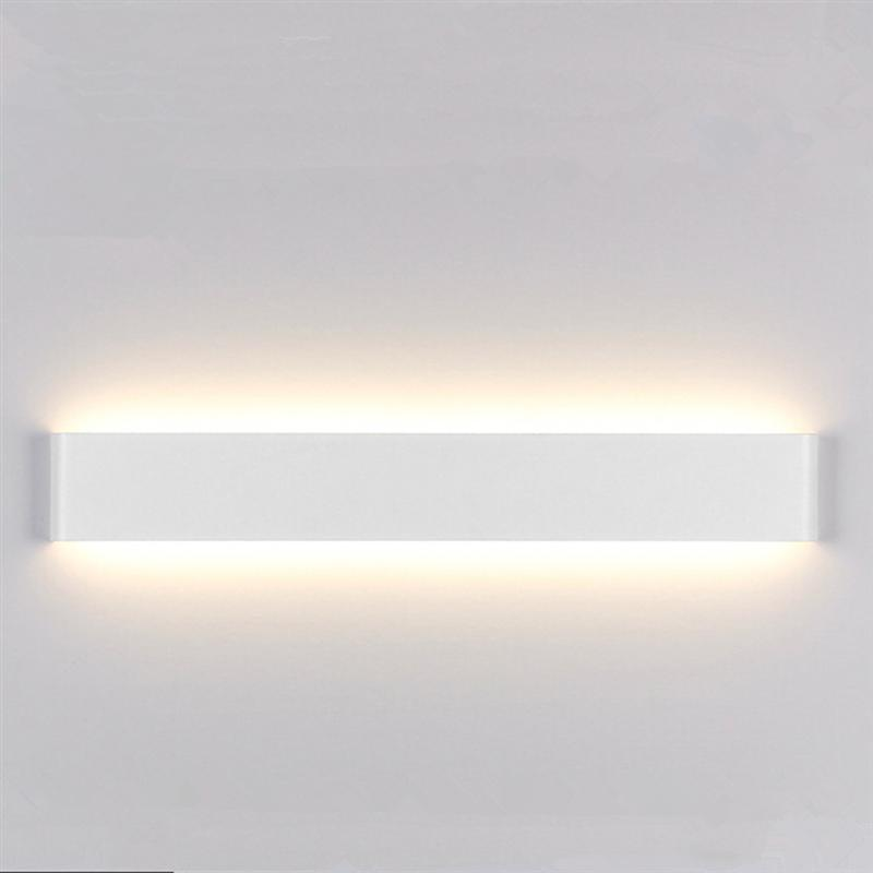 24CM 6W Creative Modern Minimalist Aluminum LED Wall Lamp Bedside Hallway Bathroom Light (White Color with Warm Light)