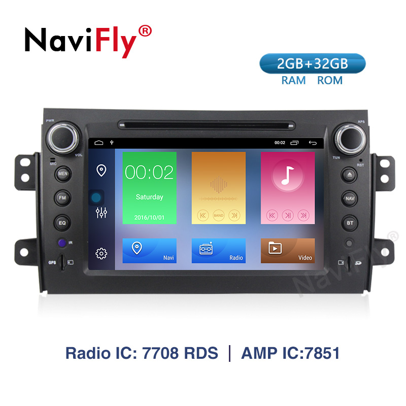NaviFly <font><b>Android</b></font> 9.1 car dvd for <font><b>Suzuki</b></font> <font><b>SX4</b></font> <font><b>2006</b></font> 2007 2008 2009 2010 2011 2012 2013 car radio gps navigation RDS DVR image