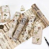 Large Size 200mm 5M Old Newspaper Poste Letter Pattern Japanese Washi Decorative Adhesive Tape DIY Masking
