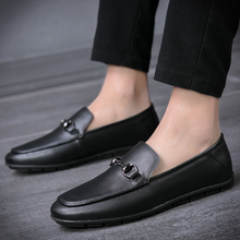 2018 new Mens  Leather Shoes Luxury Brand Loafers Formal Moccasins Men 5