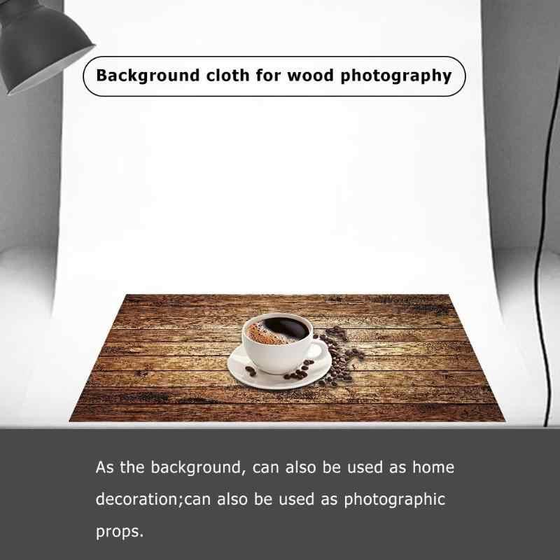 60x60cm rétro bois conseil Texture photographie fond toile de fond tissu Studio vidéo Photo arrière-plans accessoires pour la nourriture