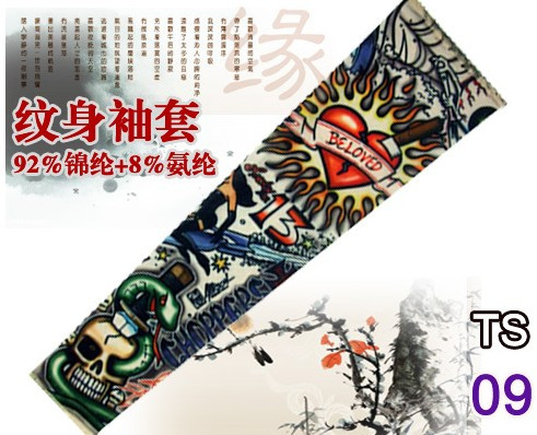 New hot driving sunscreen arm tatoo sleeve man & woman cool cycling temporary flash tattoo Stretchy scorpion fake tattoo sleeves 7