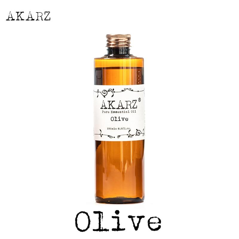 AKARZ המותג המפורסם שמן זית טבעי ארומתרפיה גבוהה קיבולת העור טיפוח הגוף עיסוי שמן זית חיוני